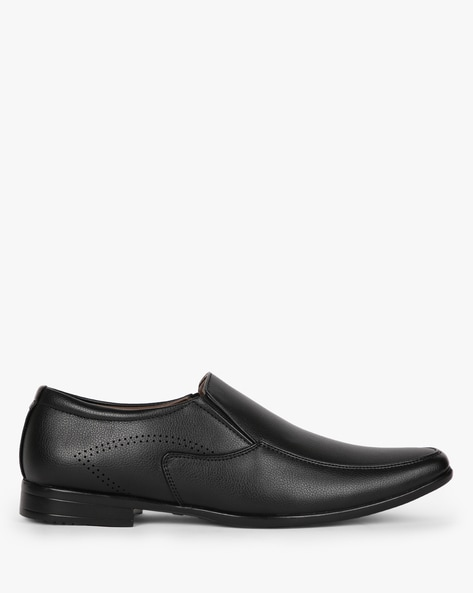 Textured Slip-On Formal Shoes By ESCARO ( Black )