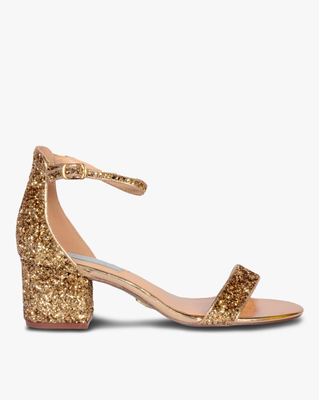 Buy Gold Heeled Sandals for Women by