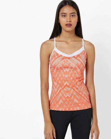 Printed Round-Neck Camisole Top By SATVA ( Multi )