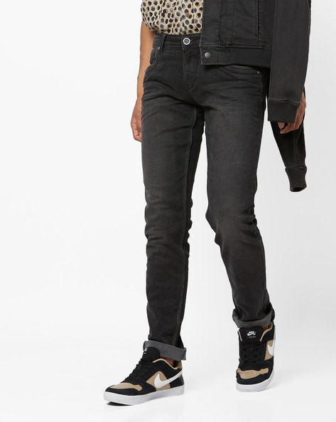 Lightly Washed Mid-Rise Skinny Jeans By INTEGRITI ( Black ) - 460249676005