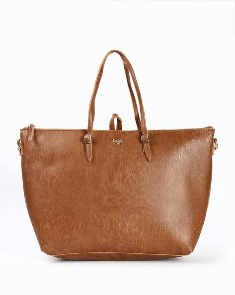 BAGGIT Textured Tote Bag with Detachable Shoulder Strap
