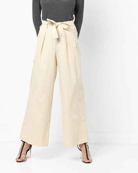 bfe9c982d8a2 Buy Off White Trousers & Pants for Women by AJIO Online | Ajio.com