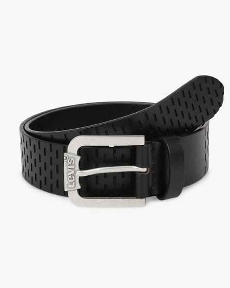Leather Belt With Buckle Closure By LEVIS ( Black ) - 460208826001
