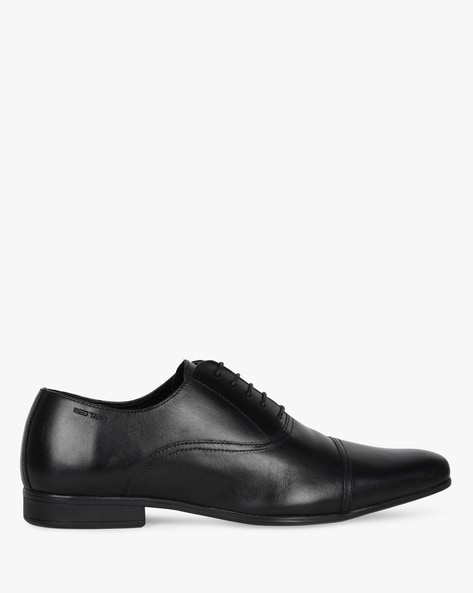 Genuine Leather Oxford Shoes By RED TAPE ( Black )