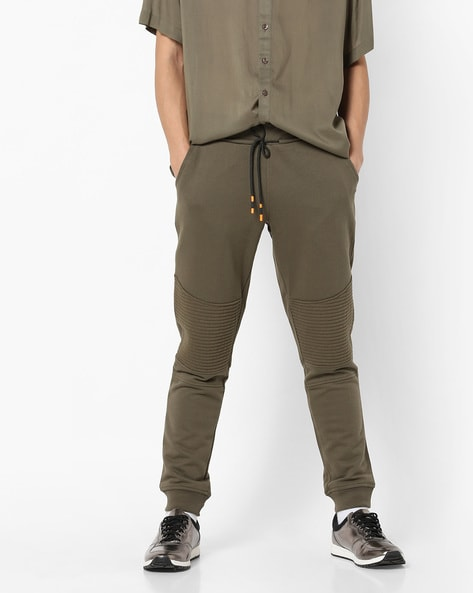 Panelled Sweat Pants With Drawstring Waist By Jack & Jones ( Green )