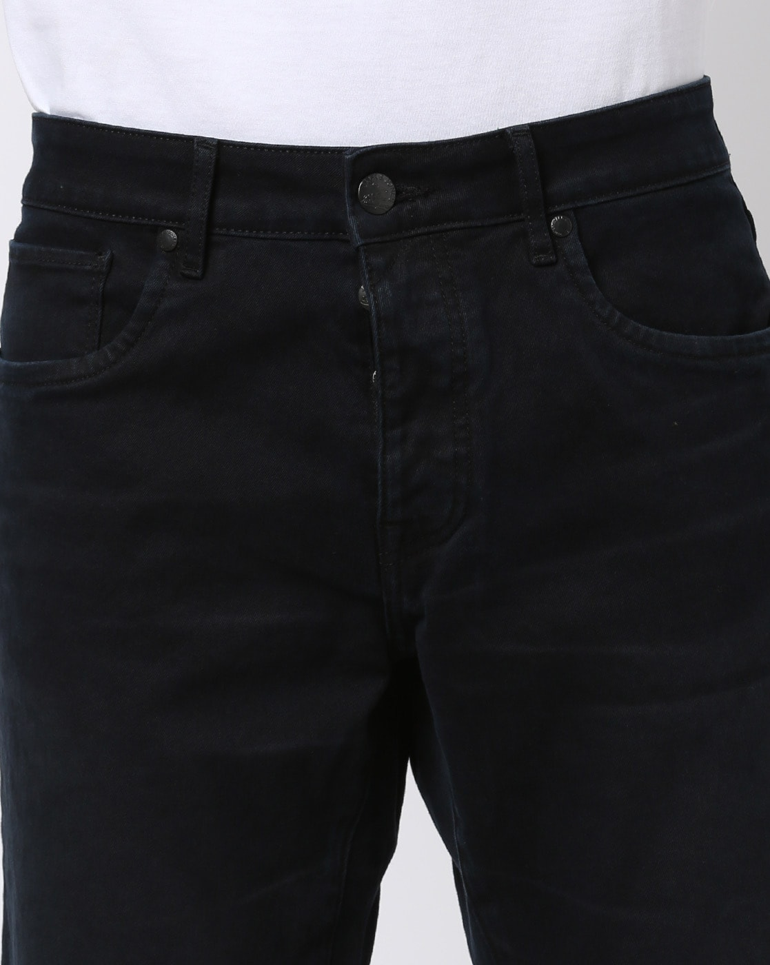 Clark Mid Rise Jeans with Button Closure