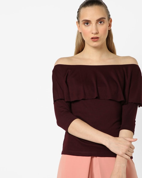 eb441d0d0a3a4d Buy Wine red Tops for Women by CODE by lifestyle Online