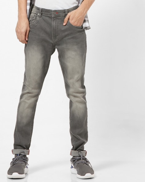 2daf895c ... with Insert Pockets. Rs. 999. DNMX Grey Skinny Skinny Mid-Wash Low-Rise  Jeans