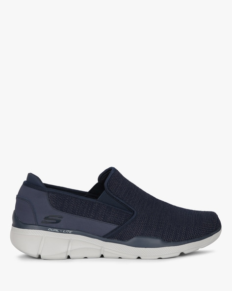 Textured Slip-On Casual Shoes By Skechers ( Navy )