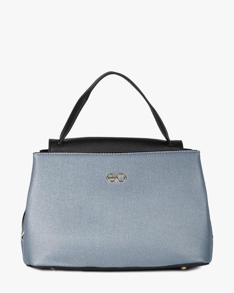 Textured Handbag With Detachable Handle By E2O ( Blue )
