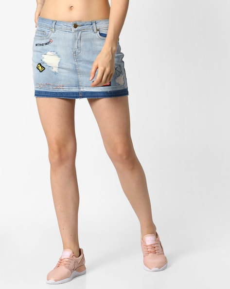 9b704d6483a4 Buy Light Blue Skirts for Women by Ginger by lifestyle Online