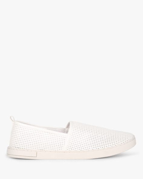 Slip-On Sneakers With Cutouts By AJIO ( White )