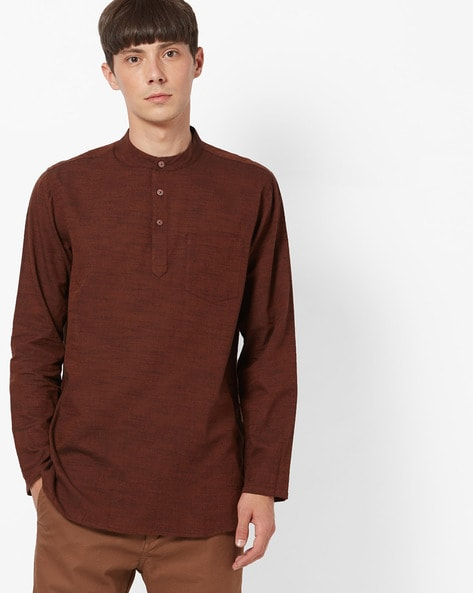 2fefd363b Buy Brown Kurtas for Men by NETPLAY Online | Ajio.com