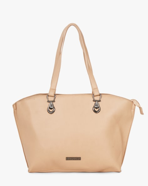 Textured Tote Bag With Short Handles By CAPRESE ( Offwhite )