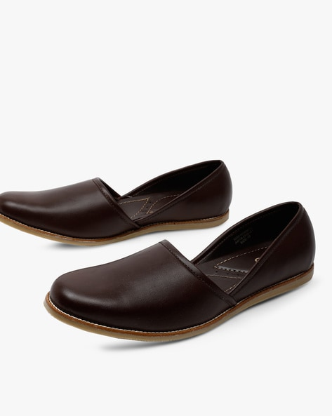 Nagra Low-Top Slip-On Casual Shoes By AJIO ( Brown )