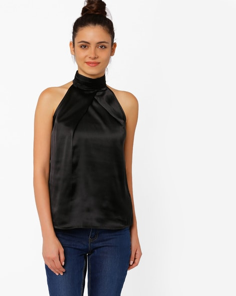 96adcb4304565a Buy Black Tops for Women by RIDRESS Online