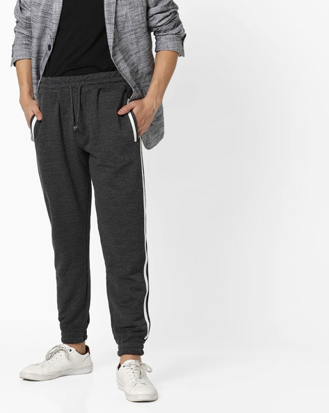 Joggers With Contrast Taping By ALCOTT ( Greymelange )