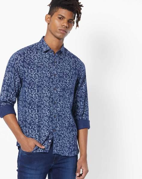7050ce2a Floral Print Slim Fit Shirt
