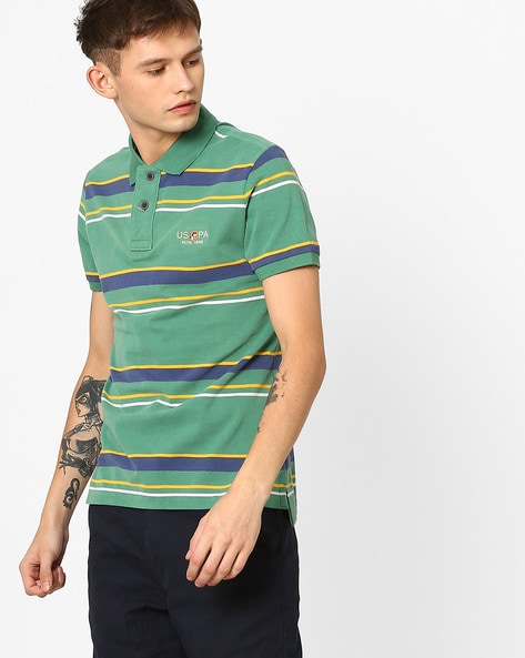 Slim Fit Striped Polo T-Shirt By U.S. Polo Assn. ( Assorted )