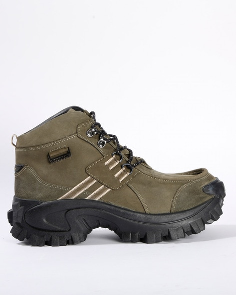 Buy Olive Green Boots for Men by