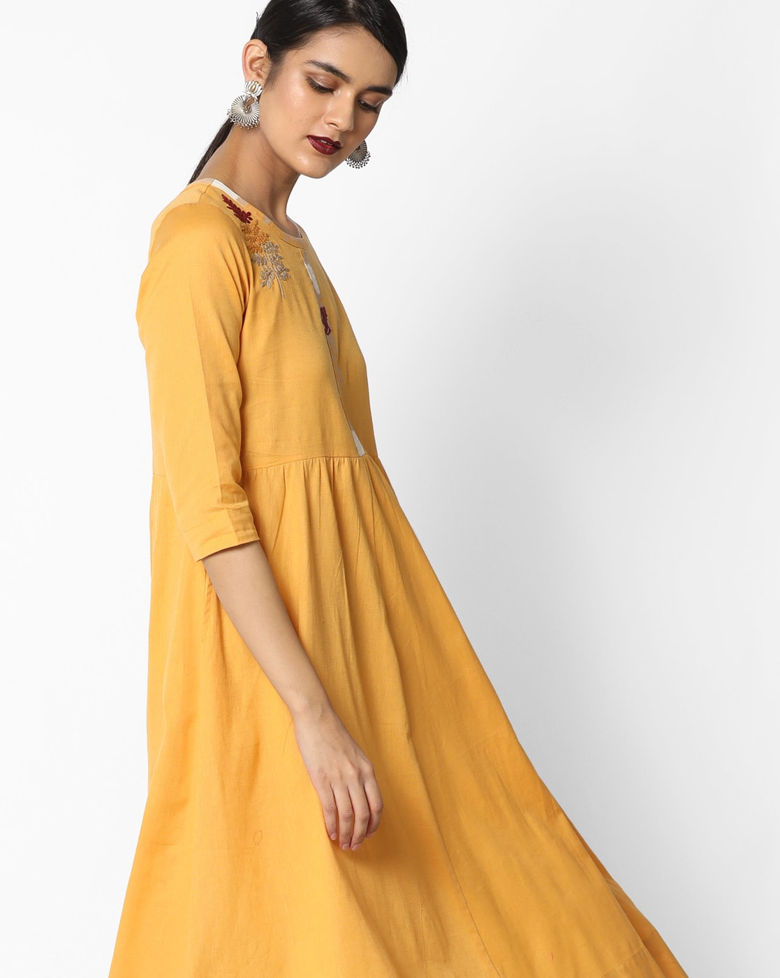 67954d1d8bec Buy Mustard Yellow Dresses   Gowns for Women by AJIO Online