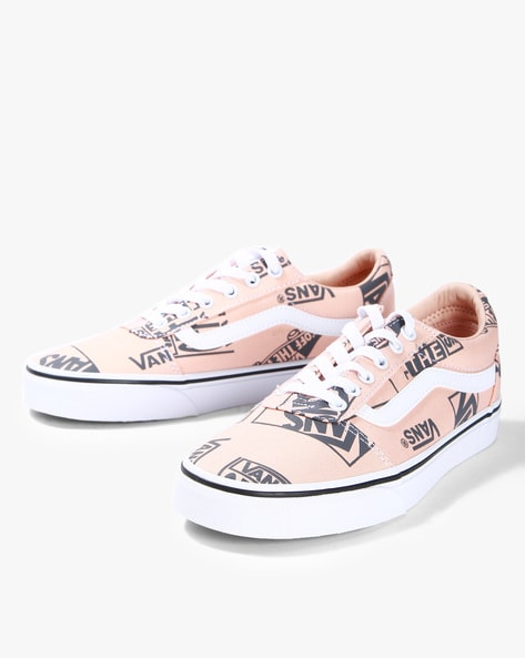 5d1295c7d92a39 Brands Pink Lace-Ups Printed Lace-up Casual Shoes with Signature Branding.  Quick View. Vans
