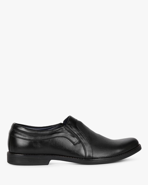 Panelled Formal Shoes With Elasticated Gussets By ESCARO ( Black )