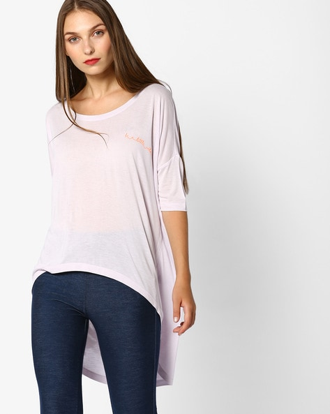 50ba3242eb2 Home · Women · Western Wear · Tops; Knit Top with High-Low Hem. Previous