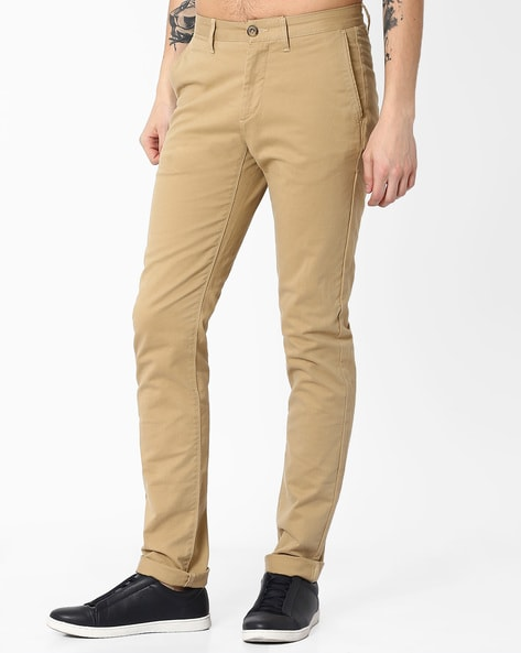 Slim Fit Flat-Front Trousers By U.S. Polo Assn. ( Khaki ) - 460036369005