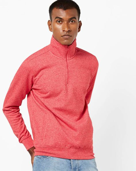 Sweatshirt With Front Zipper By JOHN PLAYERS ( Peach )