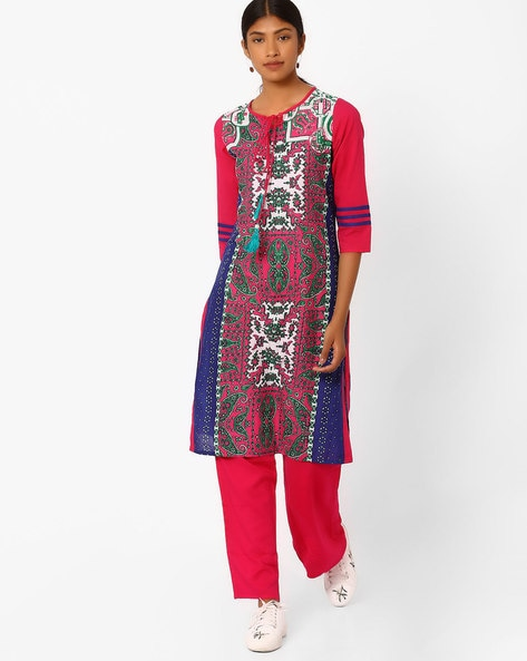 739bc68c1a4 Buy Pink   Blue Fusion Wear Sets for Women by Jaipur Kurti Online ...